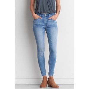 American Eagle High Waisted Light Blue Jeans